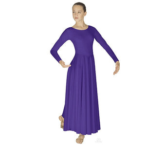 Eurotard 13524 Polyester Dance Dress - Adult purple