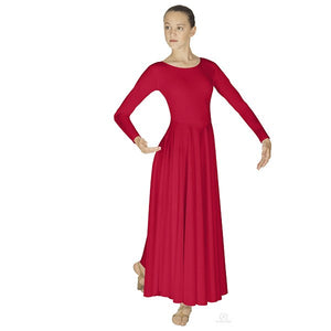 Eurotard 13524 Polyester Dance Dress - Adult red