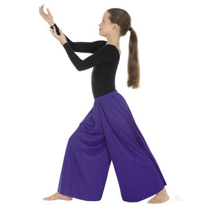Eurotard 13696c Palazzo Pants- Child purple