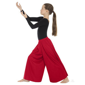 Eurotard 13696c Palazzo Pants- Child red
