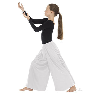 Eurotard 13696c Palazzo Pants- Child white