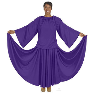 Eurotard 13730 Unisex Angel Sleeve Blouse - Adult purple
