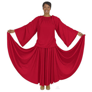 Eurotard 13730 Unisex Angel Sleeve Blouse - Adult red