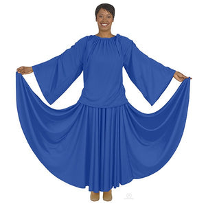 Eurotard 13730 Unisex Angel Sleeve Blouse - Adult Royal