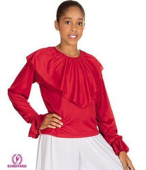 Shawl Collared Blouse Red
