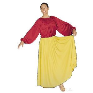 Lyrical Circle Skirt Yellow