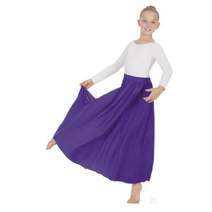 Lyrical Circle Skirt Purple