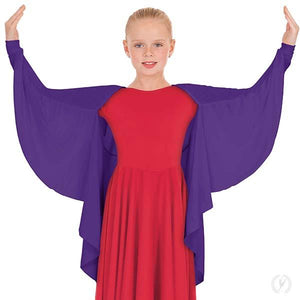 Eurotard 13800C Polyester Angel Wing Praise Shrug - Child