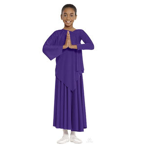 Eurotard 13826C Purple Polyester Asymmetrical Top - Child