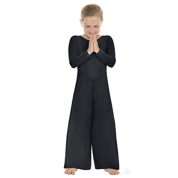 Eurotard 13842 Scoopneck Jumpsuit child black