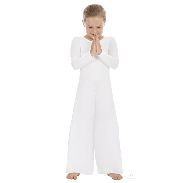 Eurotard 13842 Scoopneck Jumpsuit child white
