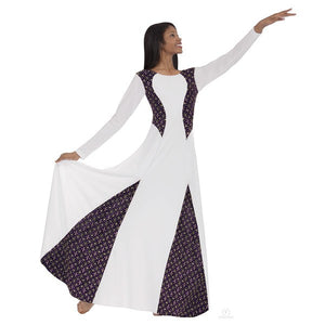Eurotard 13855 Royalty Dress white and purple