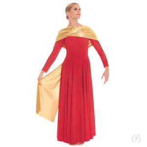 Eurotard 14124A Polyester Dress with Attached Metallic Sashes - Adult