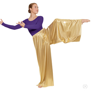 Eurotard 14691 Womens Wide Leg Metallic Palazzo Pants
