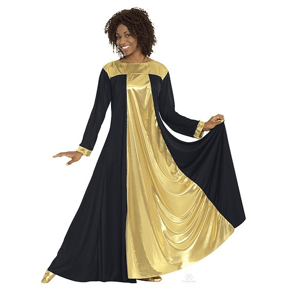 3ea1b263097f8 Eurotard 14820 Resurrection Dress - Adult black and gold