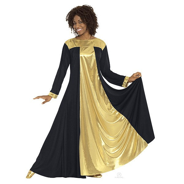 Eurotard 14820 Resurrection Dress - Adult black and gold