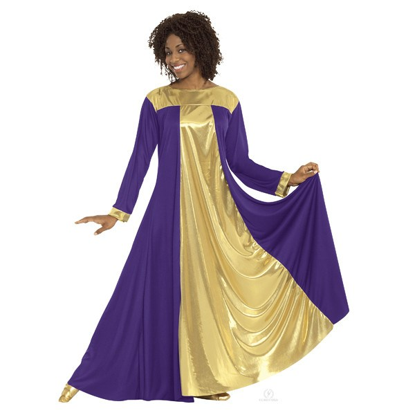 Eurotard 14820 Resurrection Dress - Adult purple and gold