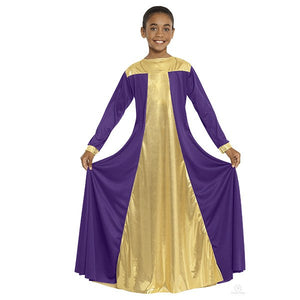 Eurotard 14820C Resurrection Dress - Child purple