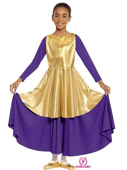 Eurotard Metallic Peplum Tunic - Child