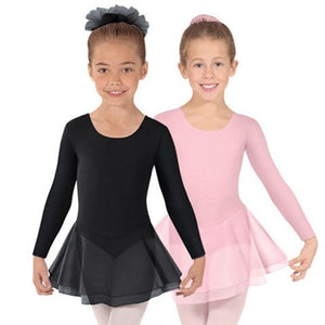 Eurotard Child Long Sleeve Leotard with Double Layer Skirt
