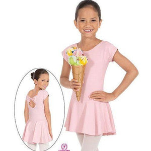 Eurotard 44285 Microfiber Bow Back Leotard with Attached Skirt - Child