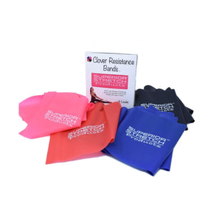 Clover Bands - Box Set of 4 Latex Resistance Band Strips