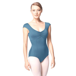 Lulli Princess Seam Cap Sleeve Leotard Cinnamon With Bra Pockets