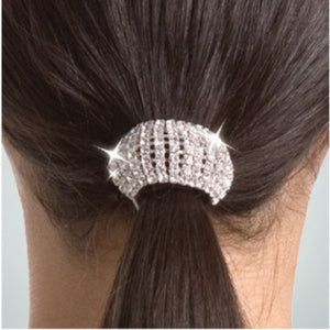Flexible Rhinestone Ponytail Holder