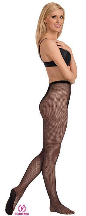 Eurotard 213 Adult Professional Seamless Fishnet Tights black