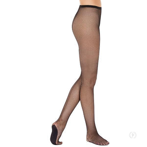 Professional Back Seam Fishnet Tights with Lined Foot