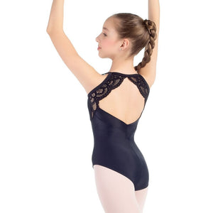 So Danca L-2025LC Lace Overlay Mesh Back Tank Leotard - Child