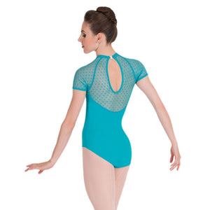 Body Wrappers Tiler Peck Designs P1110 Diamond Mesh Cap Sleeve Leotard