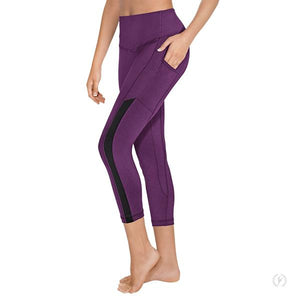 Leggings with Side Pocket and Mesh Panel