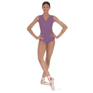 Eurotard 33794 Haley Wrap Front Tank Leotard - mauve