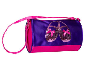 Horizon Dance 3411 Satin & Sequins Duffel Bag - Purple
