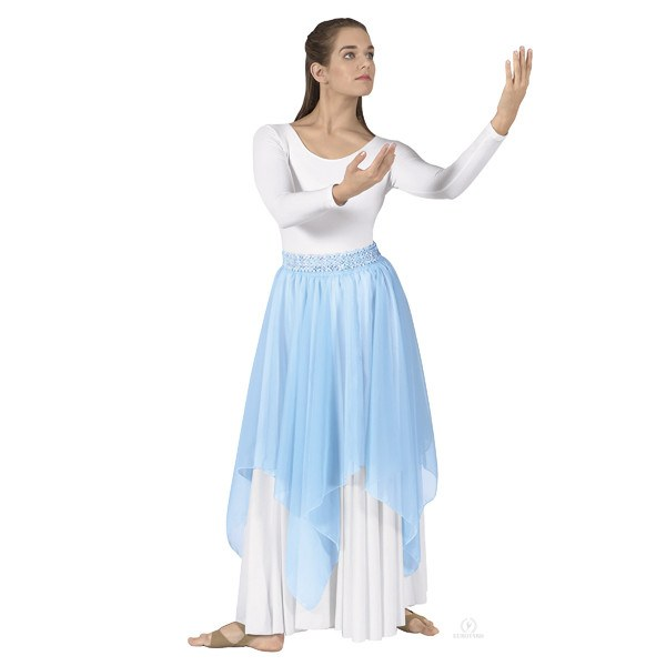 Eurotard 39768 Single Handkerchief Skirt/Top - Adult light blue