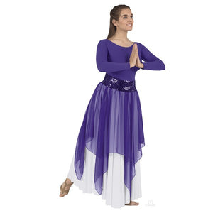 Eurotard 39768 Single Handkerchief Skirt/Top - Adult purple
