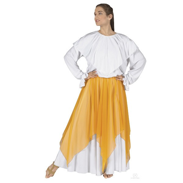 Eurotard 39768 Single Handkerchief Skirt/Top - Adult yellow