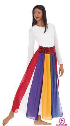 Multi-Color Streamer Skirt