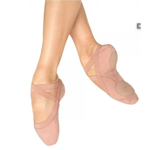 "Bloch S0621L ""Pro Elastic"" Canvas Split-Sole Ballet Shoes - Adult"