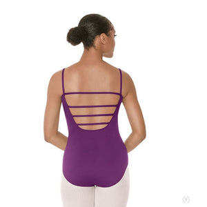 Eurotard 44485 Lattice Front Leotard Eggplant - Back