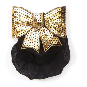 Dasha 4050 Sequin Bow with Snood