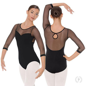 Eurotard 41592 Silhouette Mesh ¾ Length Sleeve Leotard - Adult