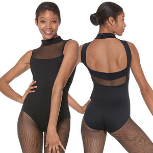 Eurotard 41596 Silhouette Mesh Mock Neck Leotard - Adult