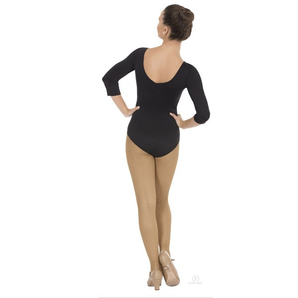 Eurotard 4408 Pinch Front & Back ¾ Length Sleeve Leotard - Adult back