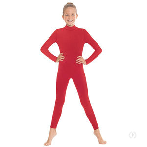Eurotard 44132C Girls Zipper Back Mock Neck Long Sleeve Unitard