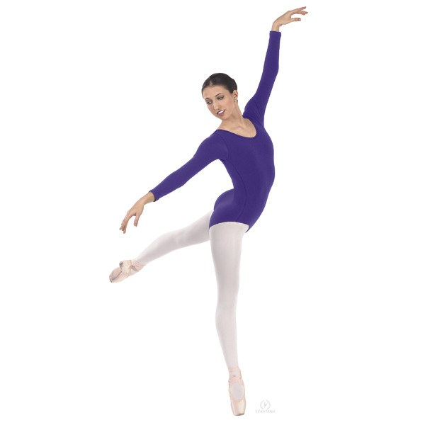 Eurotard 44265 Long Sleeve Microfiber Leotard  purple