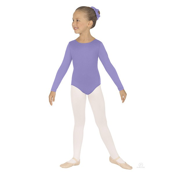 Eurotard 44265C Long Sleeve Microfiber Leotard - Child