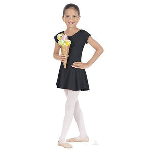 Angelica Bow Back Leotard with Skirt Black