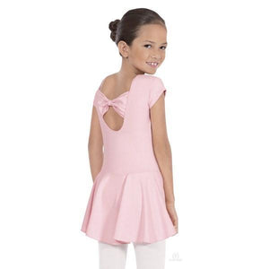 Angelica Bow Back Leotard with Skirt Pink